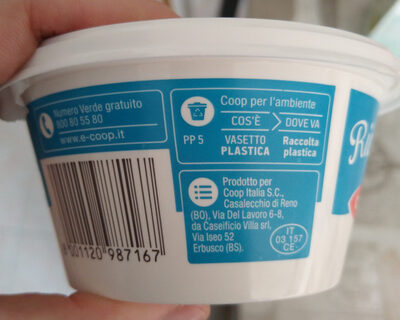 Ricotta - Recycling instructions and/or packaging information - it
