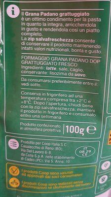 Grana Padano DOP grattugiato - Ingredients - it