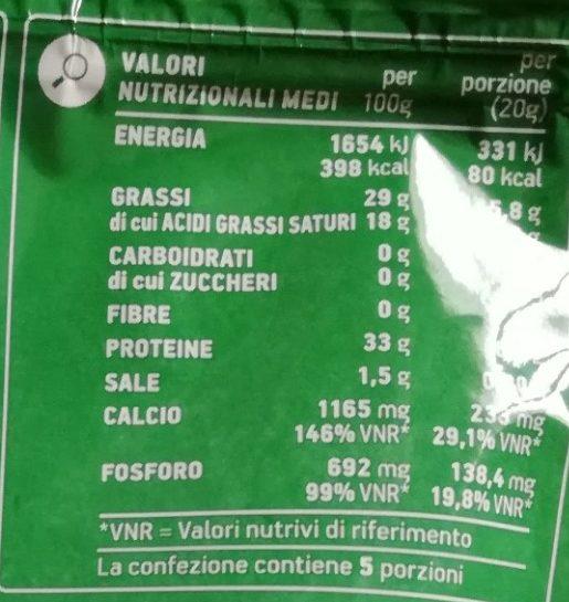 Grana Padano DOP grattugiato - Nutrition facts - it