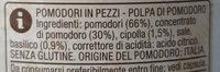 Polpa di pomodoro italiano con basilico e cipolla - Ingrédients - it
