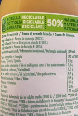 Tropicana orange with pulpe - Ingredientes - fr