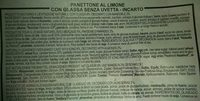 Lemon Panettone - Ingredients