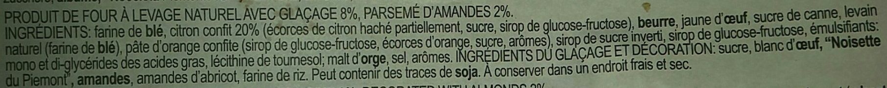 Lemon Panettone - Ingrediënten - fr