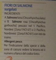 fiori di salmone - Ingrediënten - it