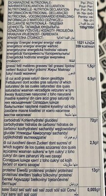 Agnesi Fusilli n78 - Voedingswaarden - fr