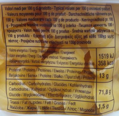 Gli Gnocchi n.54 - Informations nutritionnelles