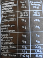 Parmigiano Reggiano AOP râpé (28% MG) - 70 g - Giovanni Ferrari - Nutrition facts