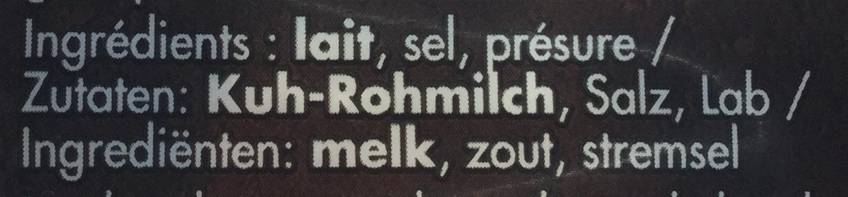 Parmigiano reggiano - Ingrediënten