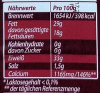 Grana Padano Riserva 20 Mesi - Informations nutritionnelles - de