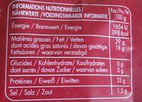 Ferrari Grana Padano Gerieben - Informations nutritionnelles - de