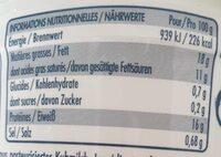 FIOR DI LATTE MOZZARELLA - Nutrition facts - fr