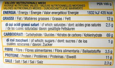 Crackers Multicereali - Informazioni nutrizionali