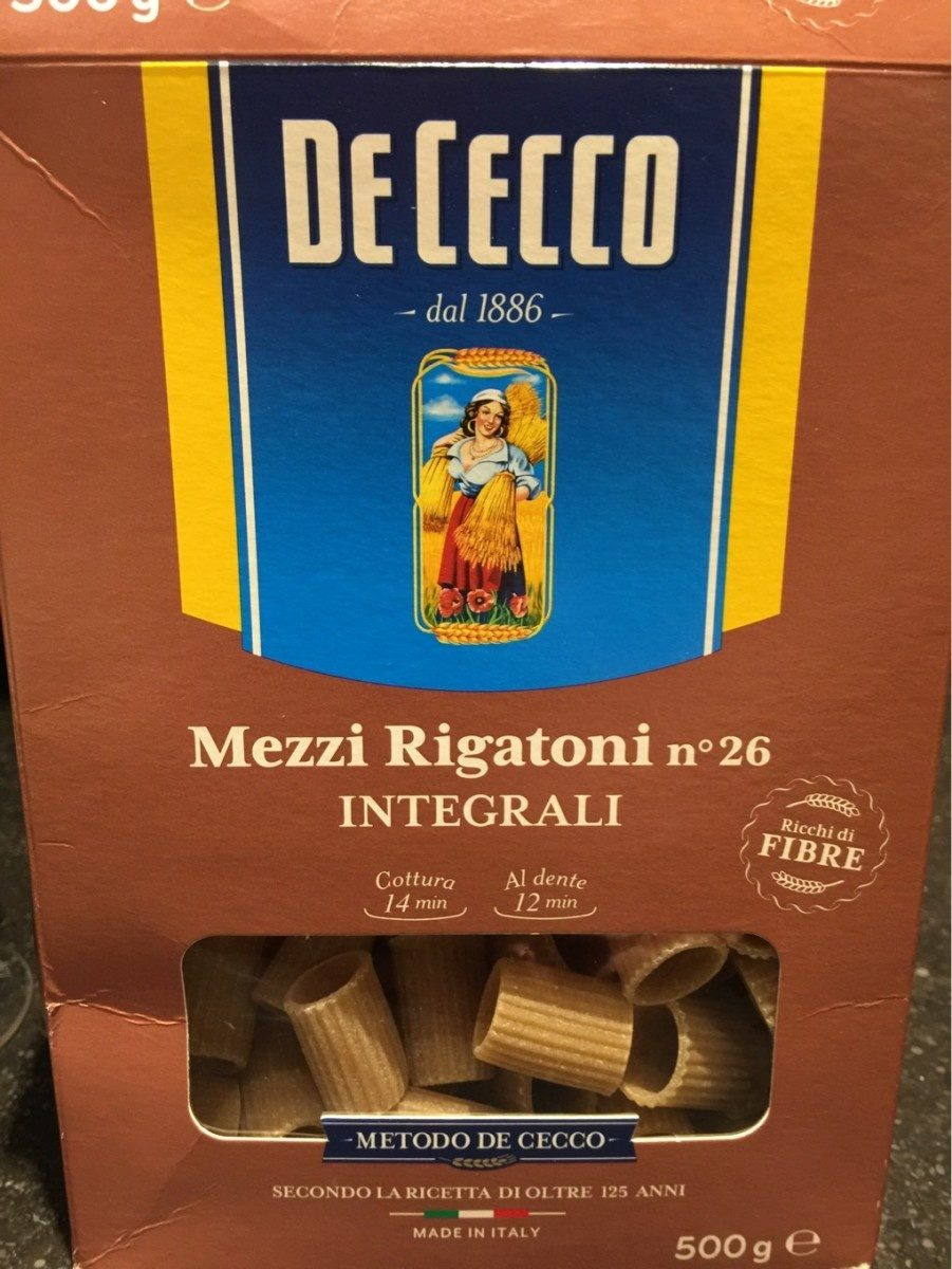 Mezzi Rigatoni integrali - Product