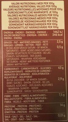 Mezzi Rigatoni integrali - Nutrition facts