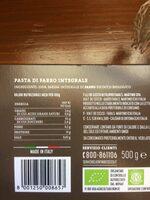 Farro Integrale biologico - Ingrédients - fr