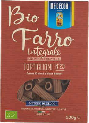 Bio Farro Integrale Tortiglioni #23 - Produit - fr