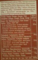 Bio Farro Integrale Tortiglioni #23 - Informations nutritionnelles - fr