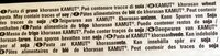 Penne Rigate n°41 Kamut - Ingrédients