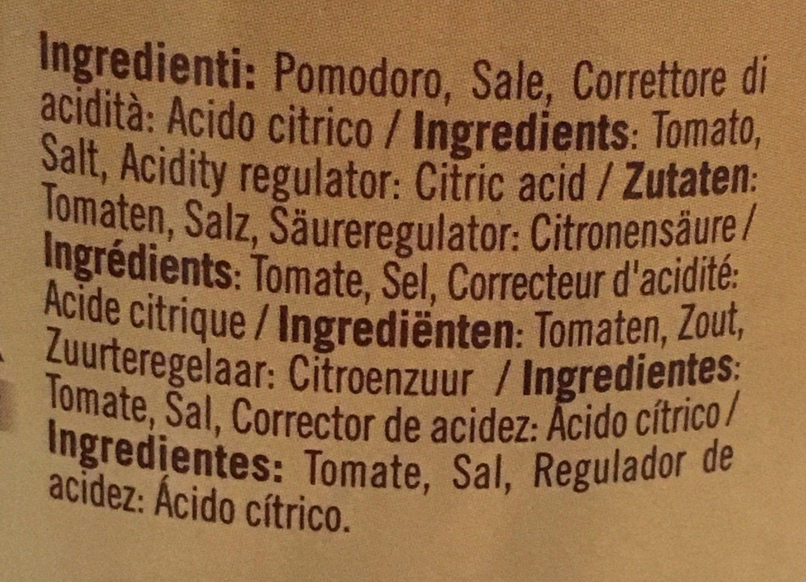Passata classica vellutata - Ingrédients - fr
