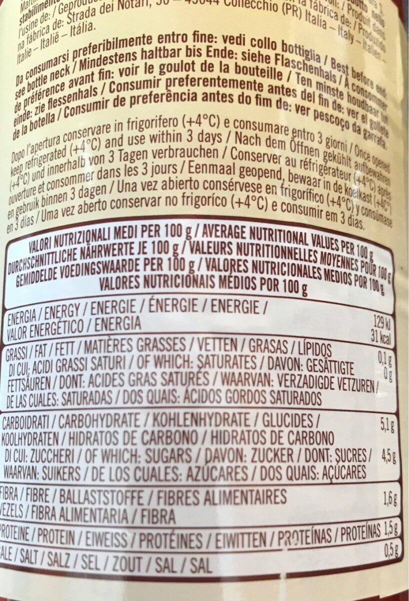 Passata classica vellutata - Informations nutritionnelles - fr