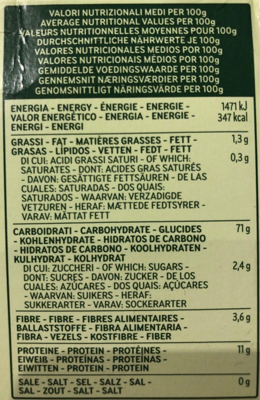 Spaghetti N12 Bio - Nutrition facts