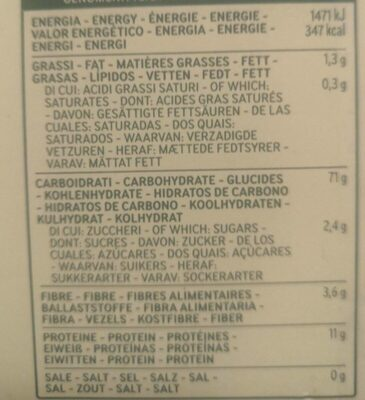 Spaghetti No12 - Nutrition facts - fr