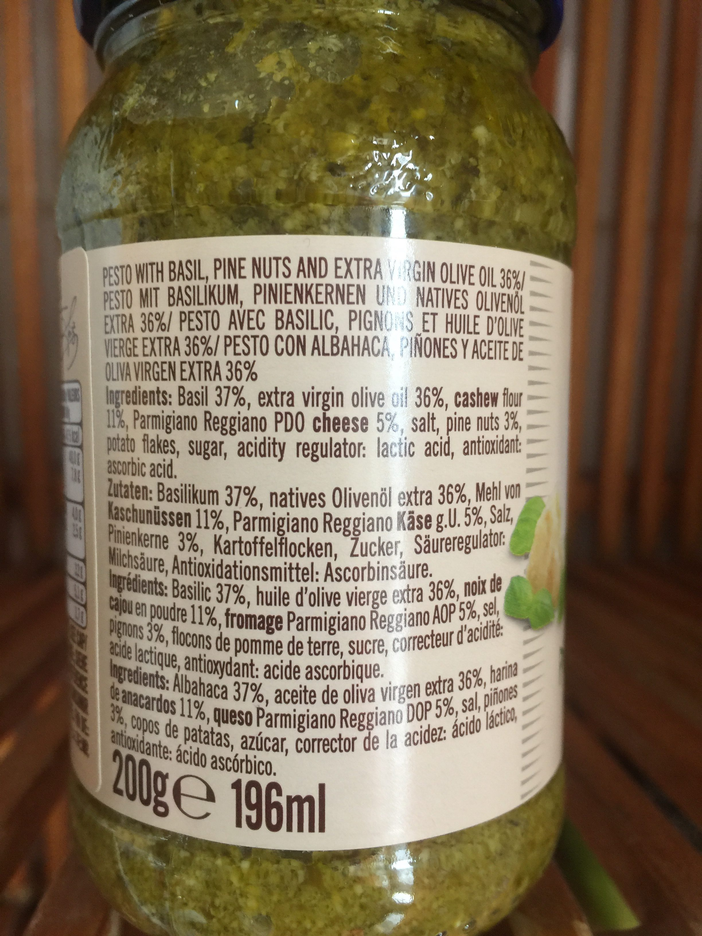 Pesto alla Genovese - Zutaten - fr