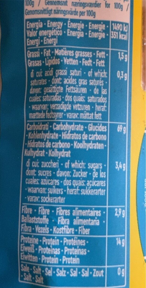 Spaghetti n°12 - Informació nutricional - en