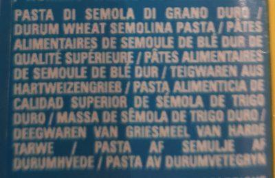 Bucatini n15 - Ingrediënten - fr