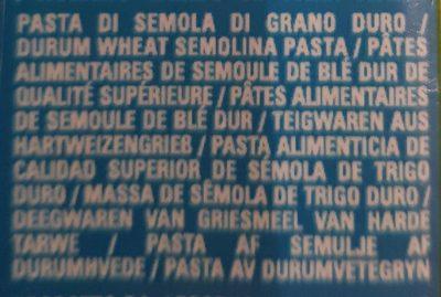 Bucatini n15 - Voedingswaarden - fr