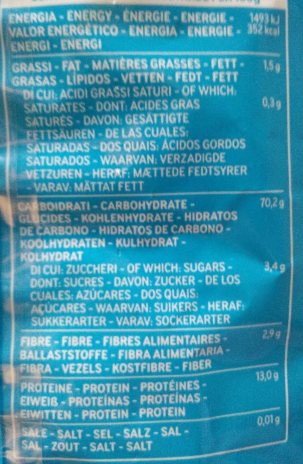 Rigatoni n°24 - Voedigswaarden