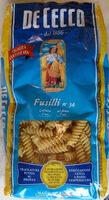 Fusilli nº 34 (Al dente 9 min) - Ingredients - fr