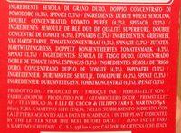 Penne Rigate Tricolore - Pâtes Alimentaires De Semoule De Blé Dur, Pâtes à La Tomates, Pâtes Aux épinards - Ingrédients