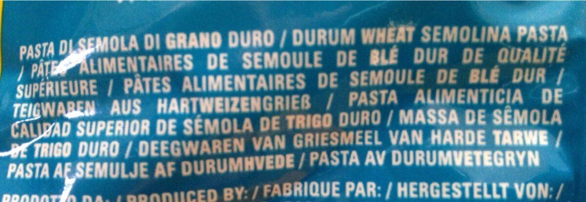 Pasta Rigatoni N24 - Ingrédients