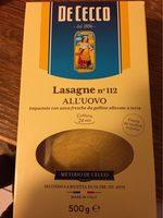 Lasagnes Aux Oeufs N °112 - Product