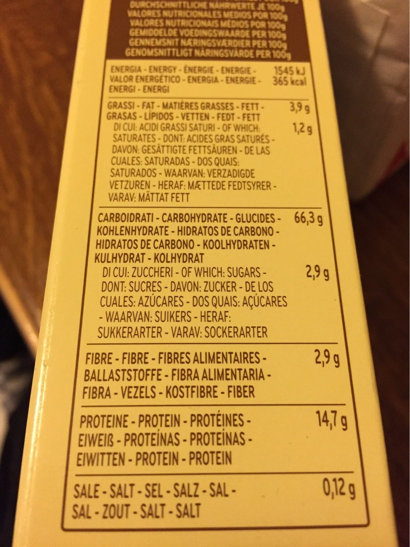 Lasagnes Aux Oeufs N °112 - Voedigswaarden