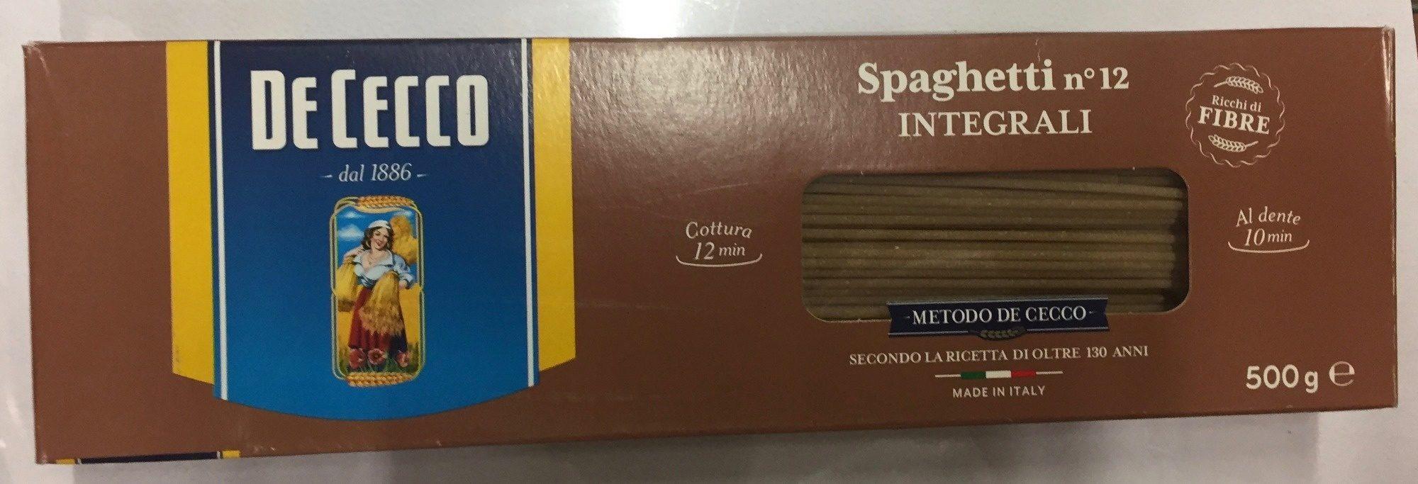 Spaghetti 12 integralli - Producto - es