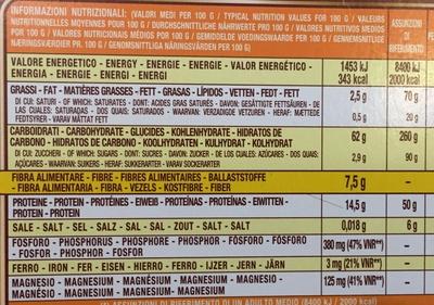Spaghetti 12 integralli - Informations nutritionnelles - fr