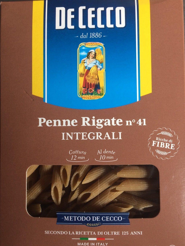 Penne Rigate Integrali - Informations nutritionnelles - fr