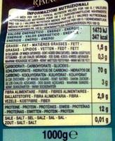 Sémola de trigo duro - Nutrition facts