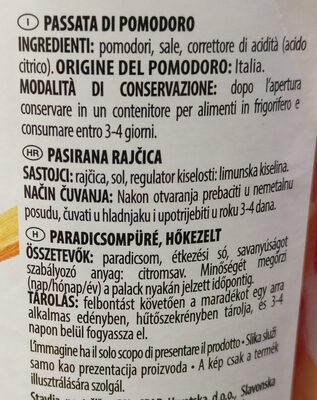 Passata Rustica - Ingredients