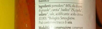 Sugo al basilico biologico - Ingredients