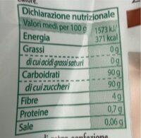Zucchero Di canna - Voedingswaarden - fr
