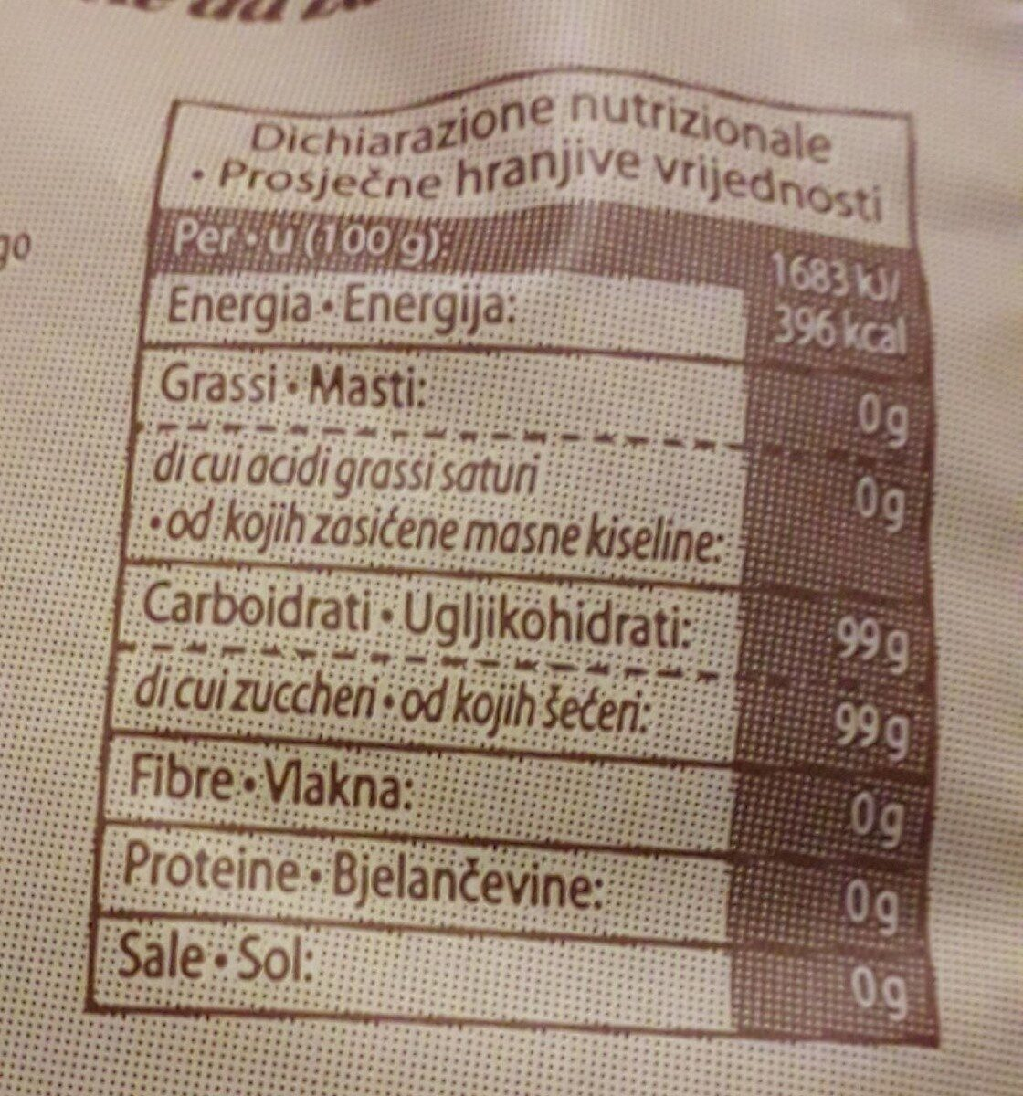 Zucchero grezzo di canna - Voedingswaarden - it