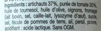 Sauce aux artichauts - Ingrédients - fr