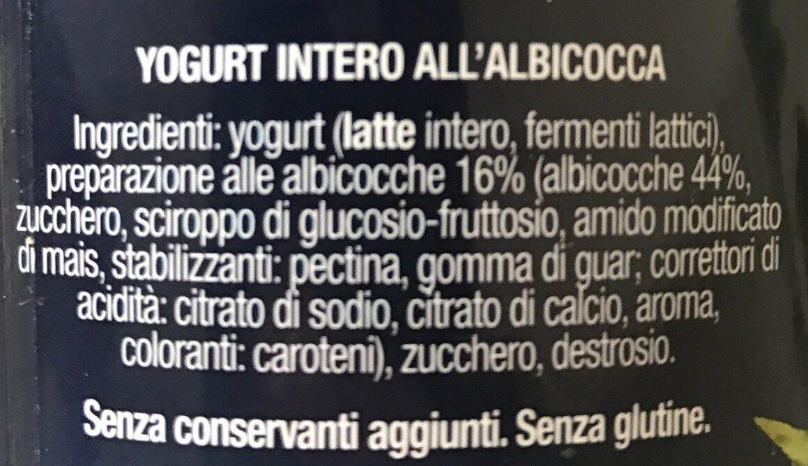 Yogurt cremoso con albiccoca - Ingredients