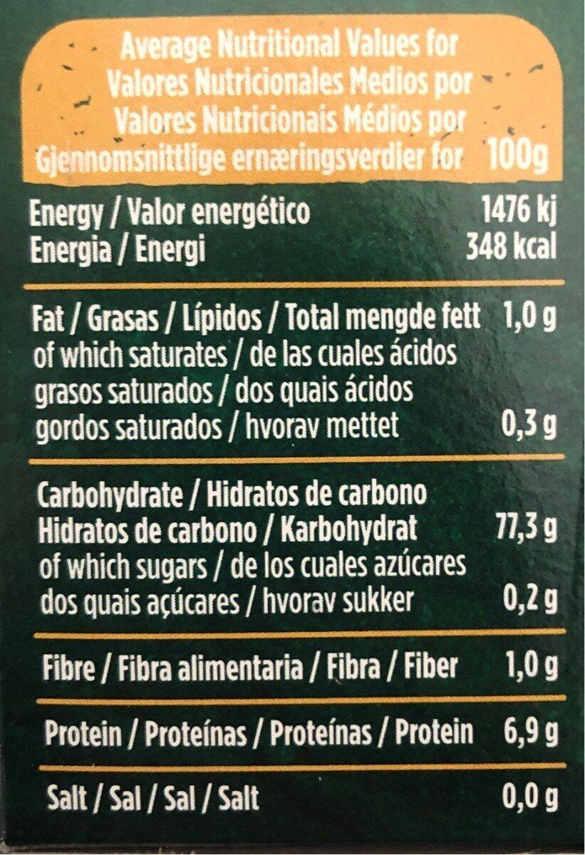 Arroz Blanco Variedad Carnaroli - Gallo - 500 G - Informations nutritionnelles - es