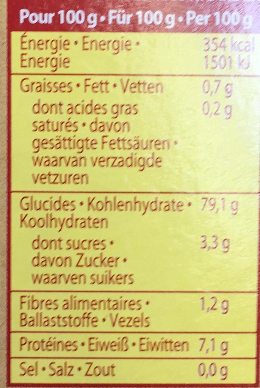Risottino (riz, carottes, tomates) - Nutrition facts