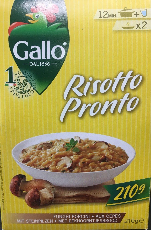 Risotto pronto aux cèpes RISO GALLO, boîte - Produit - fr