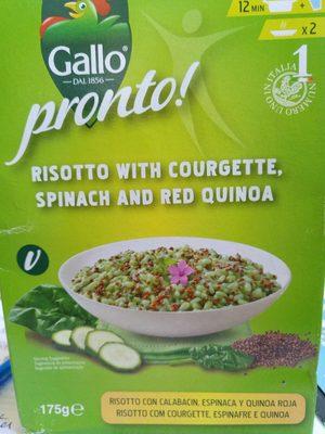 Risotto pronto con calabacín, espinaca y quinoa roja para preparar en 12 minutos envase 175 g - Producte - es